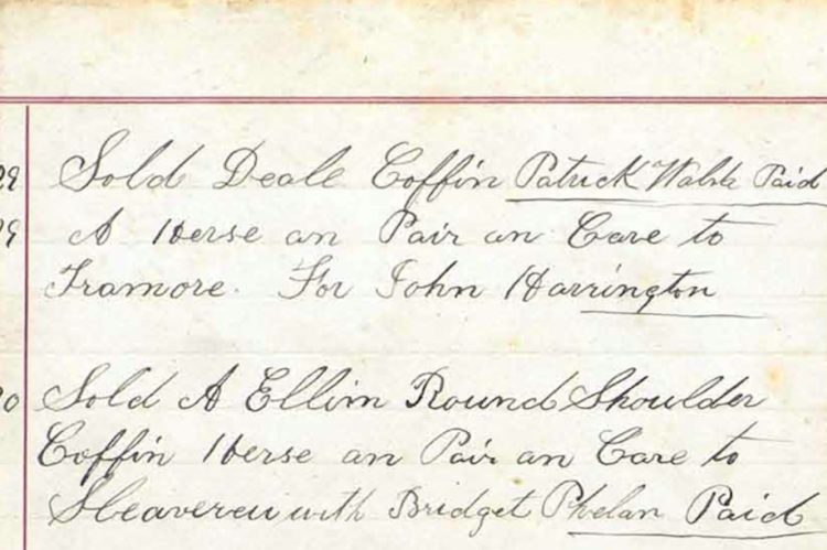 How Much Did A Funeral Cost In The 1880s Thompsons Of Waterford